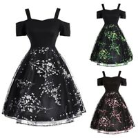 Lady Classic 50s 60s Vintage Style Audrey Hepburn Full Circle Black Swing Dress