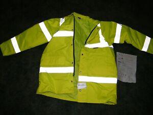 NEW, Men's HI Visibility, Parka Coat, Safety jacket XL Waterproof,