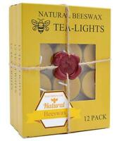 Beeswax Tealight Candles Bulk - Natural Scent Smokeless- Pack of 36