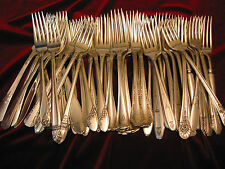 Silverplate Dinner Fork Wedding, Restaurant, Craft or Table Flatware Lot of 50