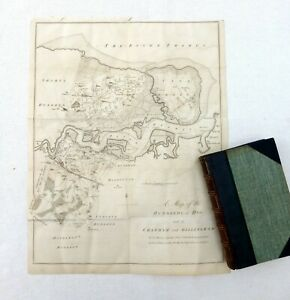 KENT, 1798 - ANTIQUE MAP of The Hundred of HOO and CHATHAM & GILLINGHAM - HASTED