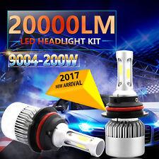 200W 9004 HB1 LED Headlight 20000LM White Hi/Low Beam 6500K Bulbs Kit Lumileds