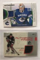 2007-08 Hot Prospects HM-CS Curtis Sanford  blue hot materials canucks