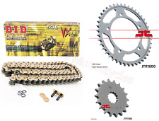 Triumph 1050 Tiger (2009 Model) DID Gold X-Ring Chain & JT Sprockets Kit Set