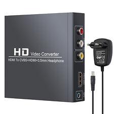 HDMI zu HDMI + 3RCA CVBS AV Composite Video Audio Adapter mit 3.5 mm Kopfhörer