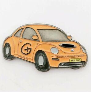 Racer Geocoin - Black Nickel Orange RE250