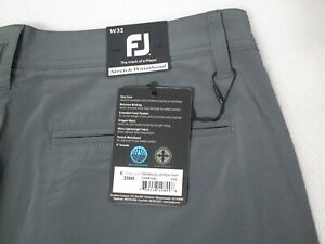 FootJoy Mens Golf Shorts Charcoal Gray Stretch Size 32 New With Tags