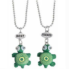 Friendship Two Cute Green Turtles Fashion Pendant Necklaces Gift for Friend N547