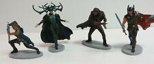 Disney Store Marvel Thor Ragnarok Figurine Set of 4 figures Loose