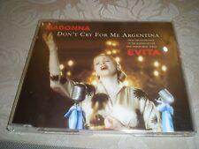 MADONNA - DON'T CRY FOR ME ARGENTINA  = WARNER BROS  W 0384 CD