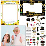 Christmas New Year Party Props Frames Xmas Fun Photo Booth Selfie Photography