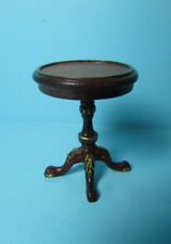 Dollhouse Miniature Wood Harding Round Side Table Platinum Collection P7318