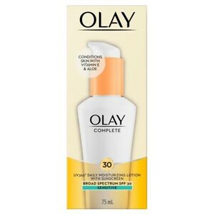 New Olay Complete SPF 30 Defense Daily UV Moisturizer Sensitive 2.5oz Exp:03/22