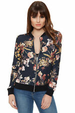 Bomber Floral Regular Size Coats & Jackets for Women