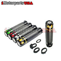 STREET RACING HAND GRIPS W/ THROTTLE SLEEVE FOR SUZUKI GSXR GSR DR DRZ RM BIKE