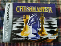 ChessMaster - Authentic - Nintendo Game Boy Advance - GBA - Manual Only!