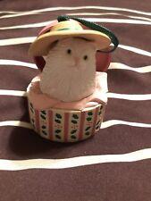 Avon Christmas Dress Up Ornament Hat Box/Cat
