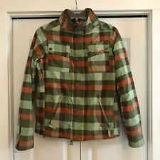 Womens Burton Ski Snowboard Plaid Jacket Coat Sz XS Xsmall