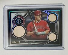 2020 Topps Tribute Mike Trout Triple Bat Relics #/150 - Angels