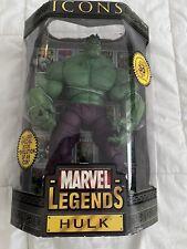 "Marvel Legends Icons 12"" GREEN INCREDIBLE HULK ACTION FIGURE Toy Biz"