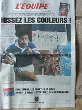 L'Equipe du 7-8/2/1998 - Rugby : avant France-Angleterre- J.O de Nagano -