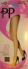 """Pretty Polly XXL Size Smooth Knit 20 Denier Tights for hips up to 60"""""""