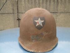 Casque Bataillon de Corée 1950 Indo Indochine Rare us ONU Indianhead 2 ème DI