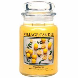 Village Candle Double Wick Large Candle Jar - Fresh Lemon
