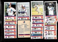 1983 MONTREAL EXPOS STUART COMPLETE SET NRMT CONDITION (30 CARDS)