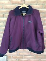 Lands End Women's Size XL Fleece Lined Squall Jacket-Full ZIP-purple