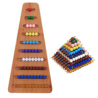 Colored Beads Wooden Montessori Math Materials Toys Kids Kindergarten Gift