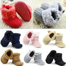 Baby Girl Newborn Winter Warm Snow Boots Toddler Infant Soft Sole Shoes Booties