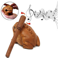 Wooden Animal Money Frog Model Toy Musical Instrument Toy Fits For Children Kids