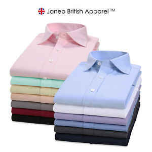 Mens Regular Fit Shirt,Double Cuff,Formal,Free Cufflinks Janeo British Apparel