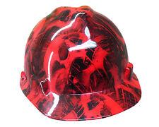 Toxic Skull Red MSA V-Guard Cap Hard Hat