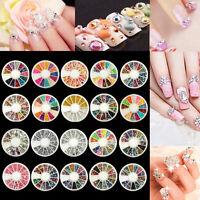 Hot Sale Nail Art 3D Glitter Rhinestone Decoration Acrylic Tips Manicure Wheel