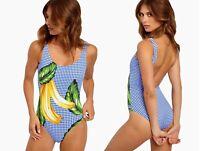 Onia Kelly Banana Print One-Piece Swimsuit sz M