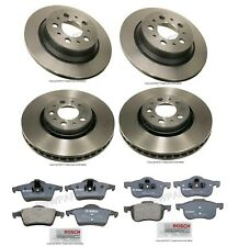 NEW Volvo S60 S80 V70 XC70 Set of 2 Front & 2 Rear Disc Brake Rotors with Pads