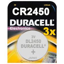 3x CR2450 DURACELL Electronics Lithium Knopfzelle DL2450 3Volt