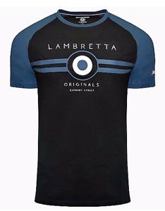 Mens Lambretta Classic Target  Mod Ska Scooter Casual Tee T-Shirt Sizes S to 4XL