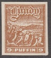 GB Lundy Island Local Post Labbe #4a MNH 9p Puffin Birds 1929 cv $105