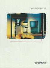 Bang&Olufsen B&O Katalog Prospekt BeoVision Avant / BeoSystem 2300 / AV 9000 uvm