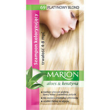 Buy 2 Get 1 MARION Hair Color Shampoo Lasting 4-8 Washes No Ammonia 69. Platium Blond