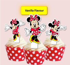 #563. Minnie Mouse EDIBLE Red Spotty Dress stand up Cupcake Cake Toppers