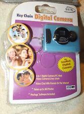 Sakar Key Chain Digital Camera Blue Digital Concepts USB  3 IN 1 .... (U)