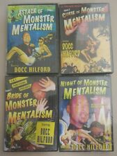 4 DVD - Docc Hilford Monster Mentalism Mental Magic complete set of 4 volume