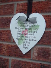 Christmas in heaven signs what do they do? hanging shabby vintage chic heart