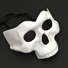 Scary White Half Face Skull Costume Halloween Masquerade Party Mask