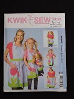 Kwik Sew Sewing Pattern Misses Girls Dolls Tulip Aprons Kerstin Martensson K4105