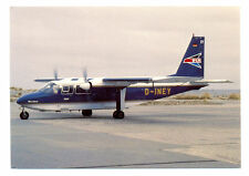 "FLN-Frisia Luftverkehr Norden BN Islander D-INEY ""Ostfriesen-Jumbo"" Postcard"